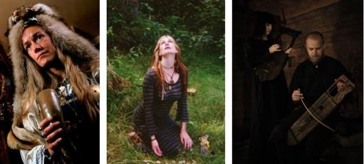 Sa leva na desno: Freya Aswynn, Andrea Haugen i Wardrune