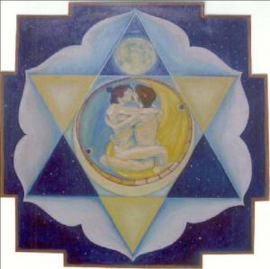 2 Moon, Goddess Shanti - peace. joy of polarity