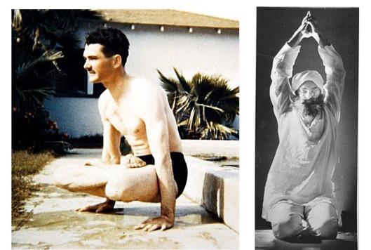 Levo: Grady radi jogu u vreme Agape Lože u Kaliforniji, a na slici desno  Grady izvodi Sat-Kriyu. Slika je iz članka o kundalini jogi, Tri-Valley News magazin ( 17, januar 1975.)
