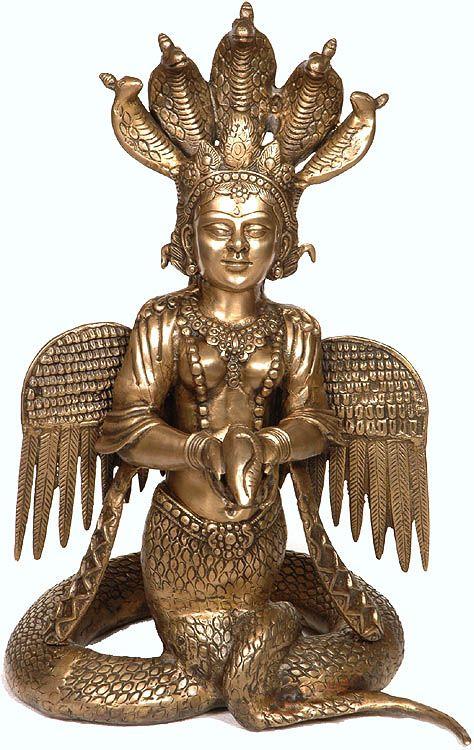 Naga Kanya, Indian goddess, half woman half serpent